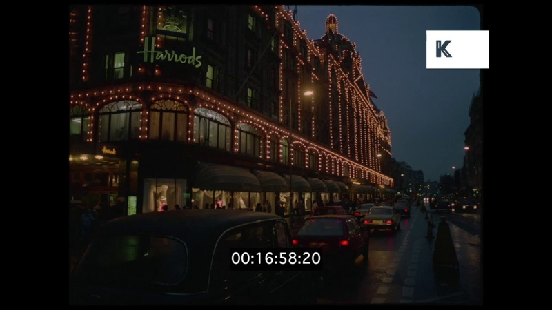 Harrods, London, Christmas 1995, HD from 35mm