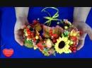 Осенний Венок Собираем вместе MK МК DIY Autumn Wreath venok osen bbb scscscrp