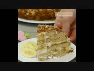Домашний банановый торт