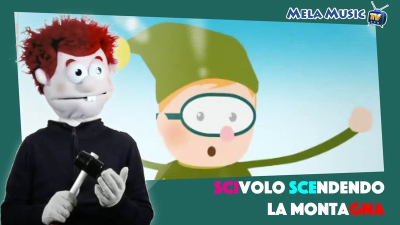 Camillo in Scivolo scendendo la montagna - Canzoni per imparare la grammatica