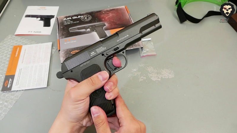 Пневматический пистолет токарева GLETCHER TT NBB с подвижным затвором