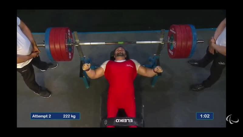 Петар Миленкович жмет 223 кг