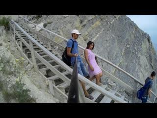 Спуск по 400 ступенькам в Супсехе летом 2019 на лысой горе в Анапе.