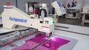 Automatic sewing machine cotton padded jacket attach zipper
