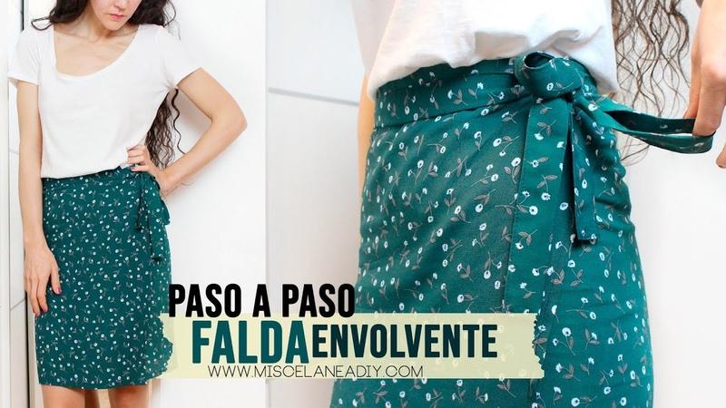 DIY FALDA Cómo hacer una falda PAREO o ENVOLVENTE MUY FÁCIL
