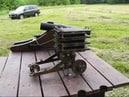 Shooting the 32 Barrel Machinegun