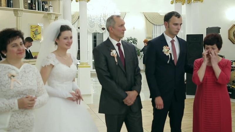 НАЙЩИРІШІ Вітання батьків нареченим Віталію та Мар яні на весіллі в Палаці Ярослав