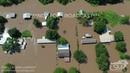 6-3-19 Pendleton, Arkansas Significant River Flooding on Arkansas River - Homes Under Water 4K