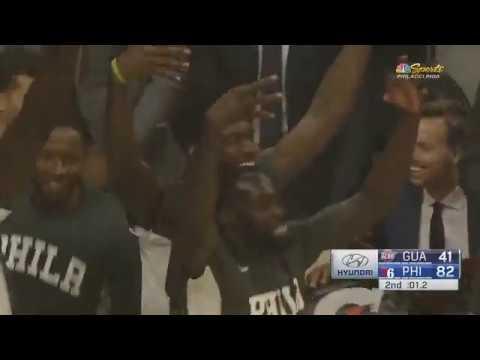 Ben Simmons Finally Hits His First 3 Point Shot! 2019 NBA Preseason