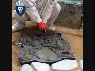 Форма для изготовления тротуарного камня - Заметки строителя