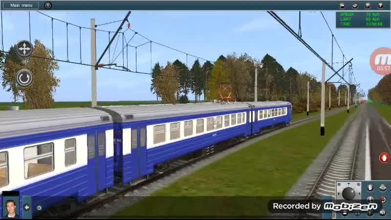 Покатушки на электропоезде ЭР9Е по вымышленной карте Осенняя фантазия mp4