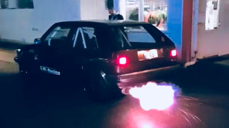 Extrem Launch Control VW Golf Mk2 VR6 Turbo 1000 hp RS Autoservice Turbo Gockel