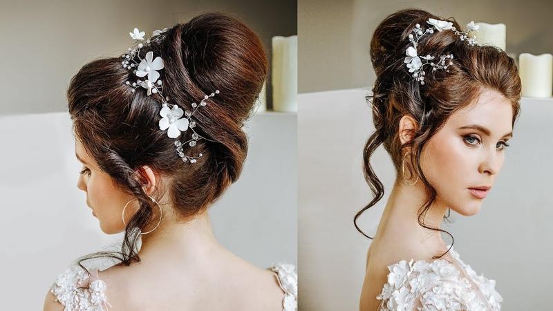 Top Babette wedding bun hairstyle for long hair   Ponytail transformation into the bun tutorial