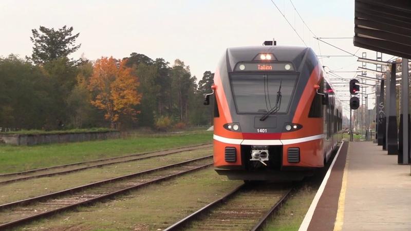 Штадлерский электропоезд 1401 на ст. Клоога Stadler EMU 1401 at Klooga station