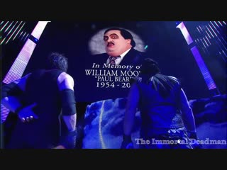 The Undertaker and Kane pay respect to Paul Bearer