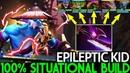 EPILEPTIC KID [Phantom Lancer] TOP Pro Carry 100% Situational Build 7.22 Dota 2