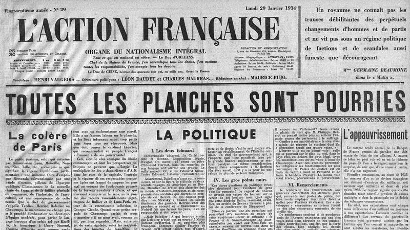 Les émeutes parlementaires du 6 février 1934