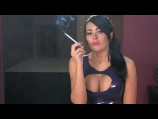 Charley atwell chain smoking 120s in latex dress