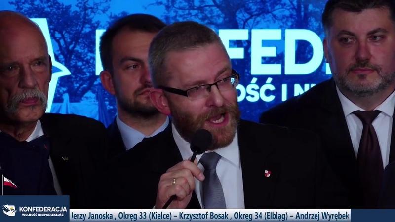 PILNE Konfederacja Wolność i Niepodległość gotowa do wyborów Prezentacja jedynek do Sejmu