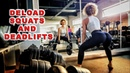 Deload day / Easy squats and deadlifts Finished workout with lunges and barberl rows
