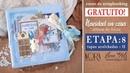 Etapa 8 Tapas acolchadas II Curso GRATUITO de scrapbooking Navidad en casa Kora projects