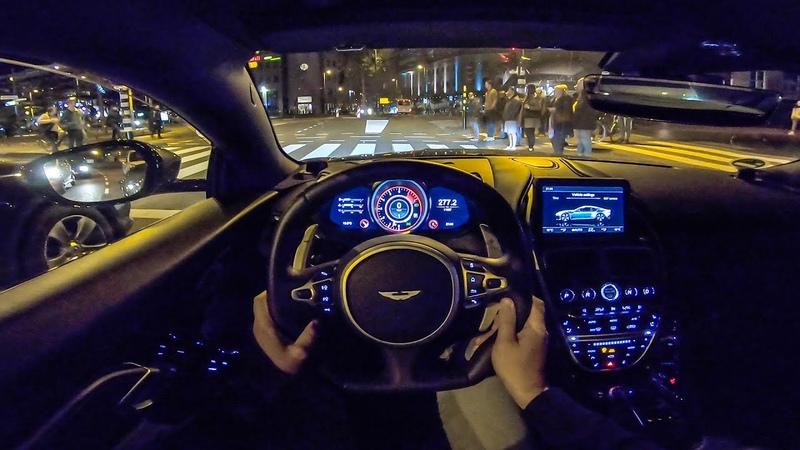 ASTON MARTIN DBS Superleggera NIGHT Drive POV by AutoTopNL