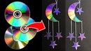 DIY Waste CD Crafts MOON and STAR Waste CD C D Wall Hanging Easy Part 2 Hand Craft