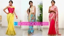 3 Bollywood Inspired SAREE DRAPING How To Make PERFECT PLEATS Fashion Style Anaysa