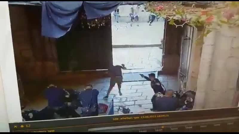 2 terrorists stabbed an Israeli police officer