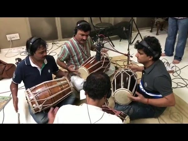 Recording Studio Bollywood song 6 rhythms playing together