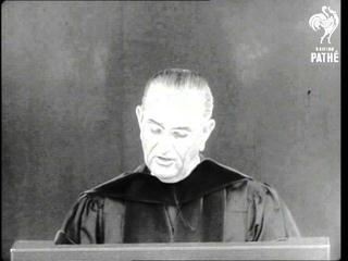 President Johnson Answers Critics On Vietnam Policy (1966)