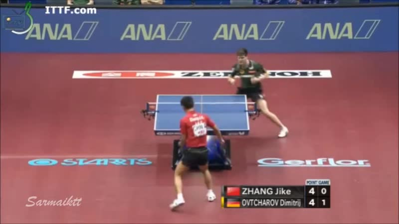 2014 WTTC FINAL ZHANG Jike vs Dimitrij OVTCHAROV