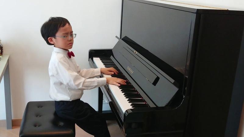 Fantasie Impromptu in C-sharp Minor Op.66 of Chopin, by Jonah Ho (age 8)