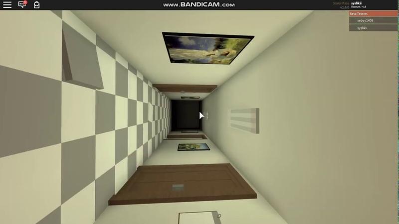 Scary Maze Beta roblox хоррор игра