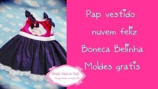 pap vestido belinha,lindo vestido de boneca,faça vc mesma vestidinho boneca