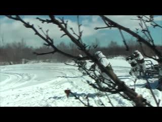 Учения морпехов на Камчатке с использованием собачьих упряжек и снегоходов