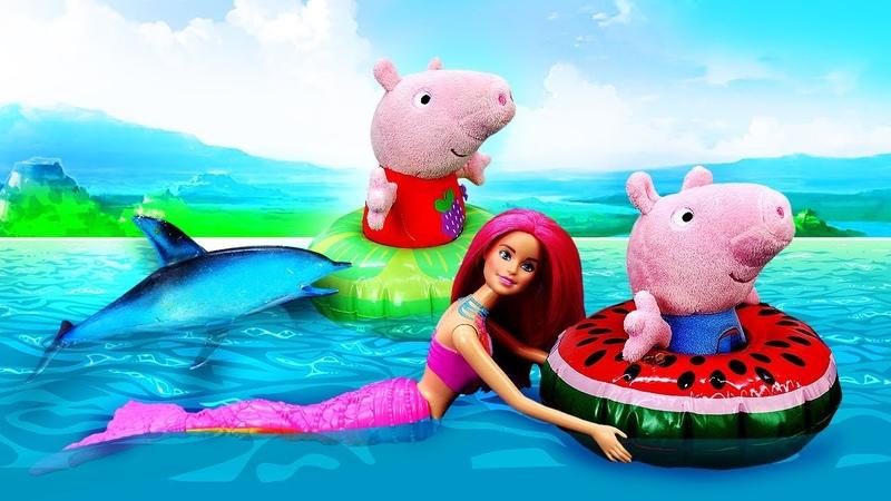 Kinder Spielzeug Video auf Deutsch Wir gehen angeln Spielspaß mit Familie Wutz