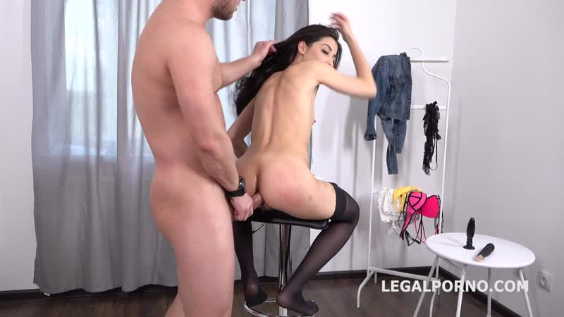 Mr. Anderson Anal Casting with Polina Sweet, Balls Deep Anal, ATM, Gapes, Cum in mouth Sex Секс
