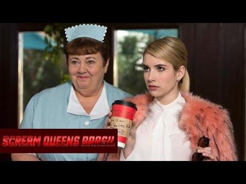 Emma Roberts filming 'SCREAM QUEENS' March 14 2015