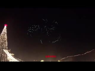 Winter bear playing in the background and the drones doing those amazing things lit up! This is incredibly beautiful Great job @