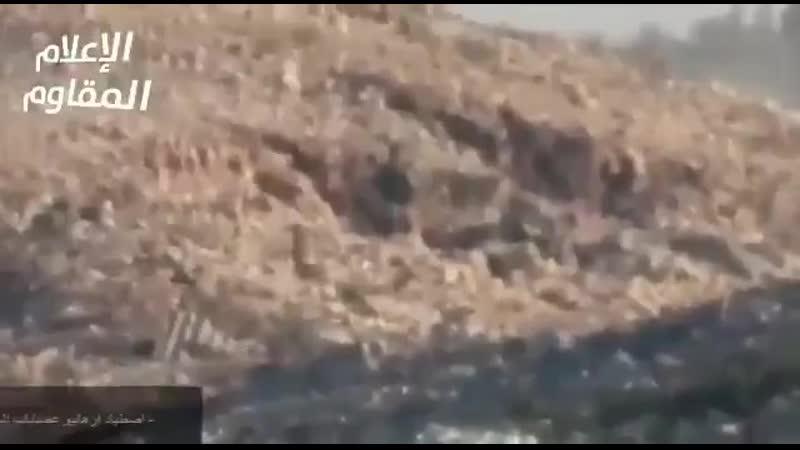 Arab Nationalist Guard ATGM training on live TIP jihadist in Kabana hills Latakia.