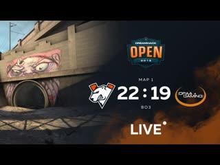 Virtus.pro 22:19 opaa gaming, dreamhack sevilla closed qualifier bo3 game 1