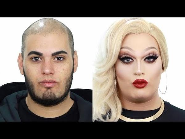 Increíble Transformación - Maquillaje Drag Queen en Tonos Cálidos