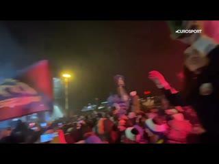 Фанаты Аталанты встречают команду