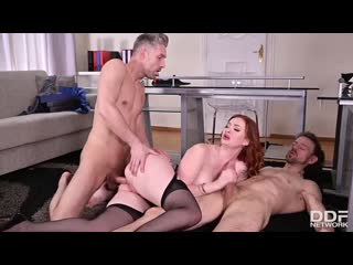 Zara Durose - MILF In The Middle - Porno, All Sex, Hardcore, Blowjob, Redhead, Anal, Double, Porn, Порно
