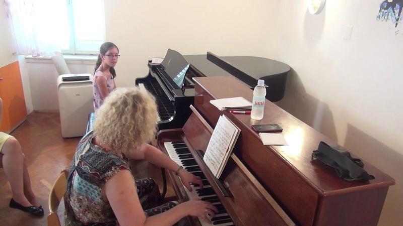 07 06 2019 Mira Marchenko's Master Classes Sara Jovic VI th Summer Music School Croatia