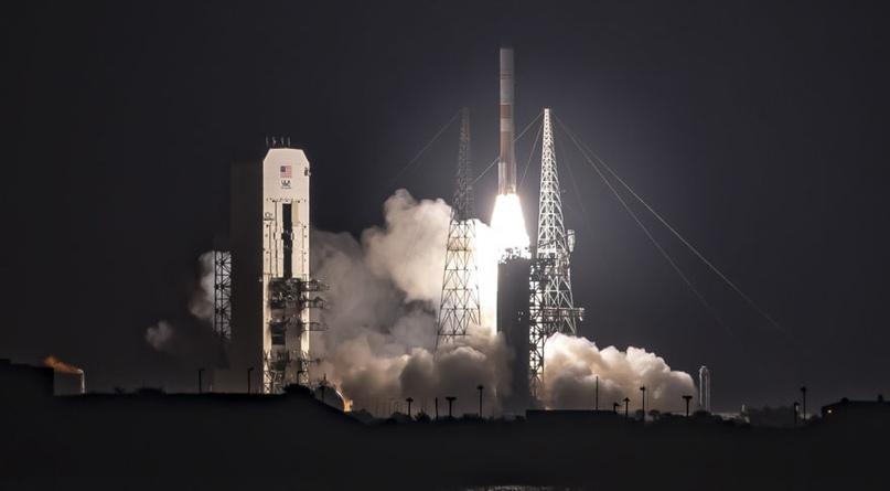 Ракета-носитель ULA Delta 4 со спутником ВВС WGS-10 взлетает с космического стартового комплекса-37 15 марта 2019 года. Предоставлено: ULA