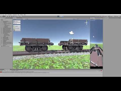 Unity Rig for train simulator Non Phisics