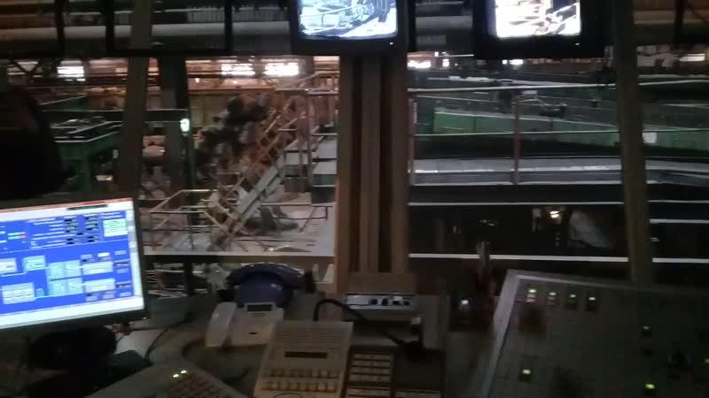 Экскурсия на АМК Кривой Рог 04 04 19 Цех Блюминг комната оператора диспетчерской службы