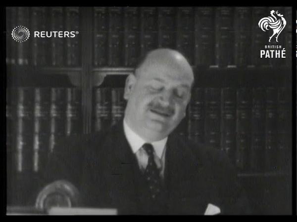 POLITICS French politician Pierre Etienne Flandin speech 1937